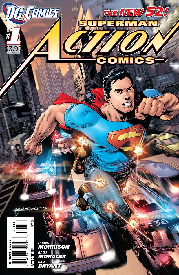 Action Comics 1 Grant Morrison Rags Morales First Issue Collectors Item: Action Comics #1