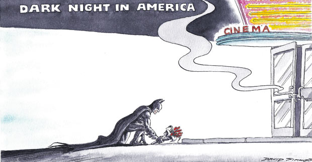 Dark Night in America cartoon The National Conversation: What Our Response to Aurora, CO Says About Us