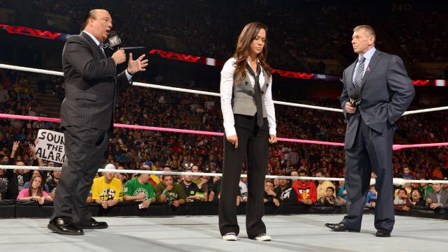 WWE Raw Paul Heyman AJ Lee Vince McMahon TV Review: WWE Monday Night Raw (10/22/12)